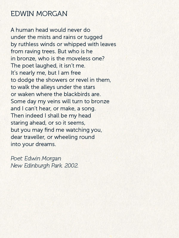EDWIN MORGAN POEM